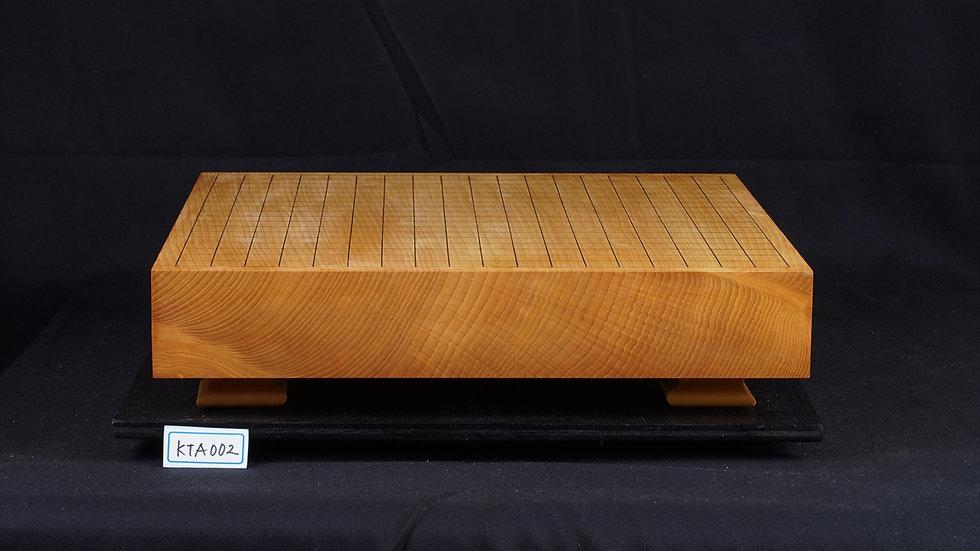 日本産本榧 柾目 卓上碁盤(低い脚付)