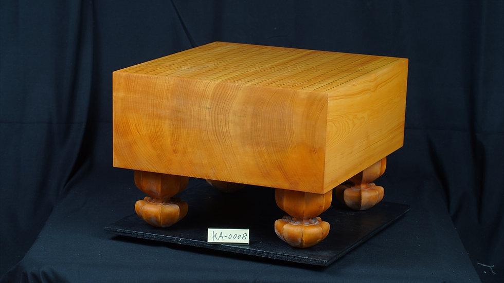 【KA0008】九州山地本榧 天地柾 脚付碁盤