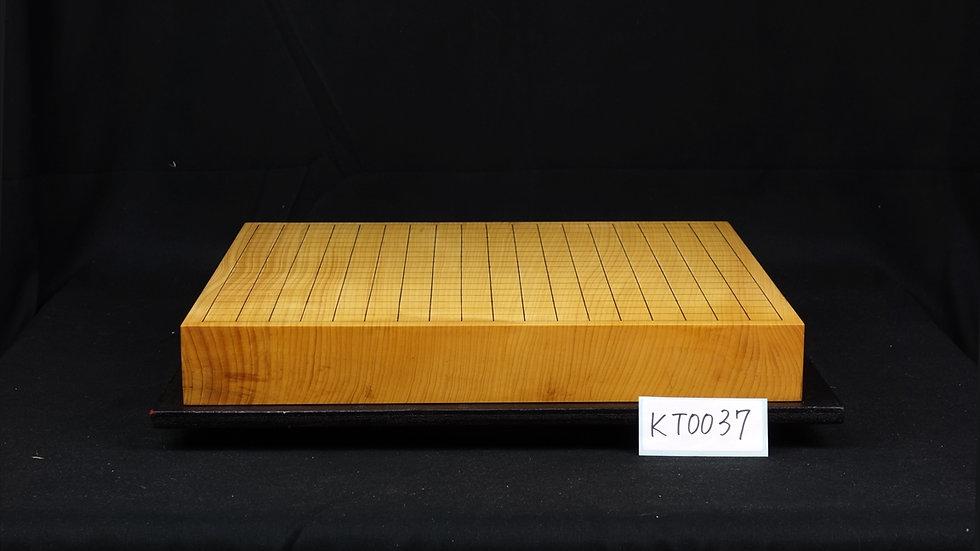 【KT0037】日本産本榧 天地柾 一枚盤 卓上碁盤