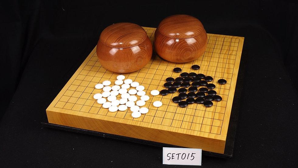 【SET015】日向産本榧(追柾) 卓上碁盤 セット