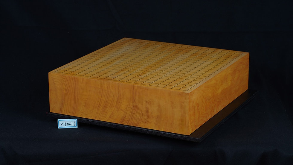 【KT0011】日本産本榧 天地柾 一枚盤 卓上碁盤
