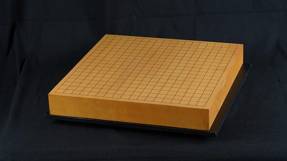 日向産本榧 柾目 三枚継 卓上碁盤
