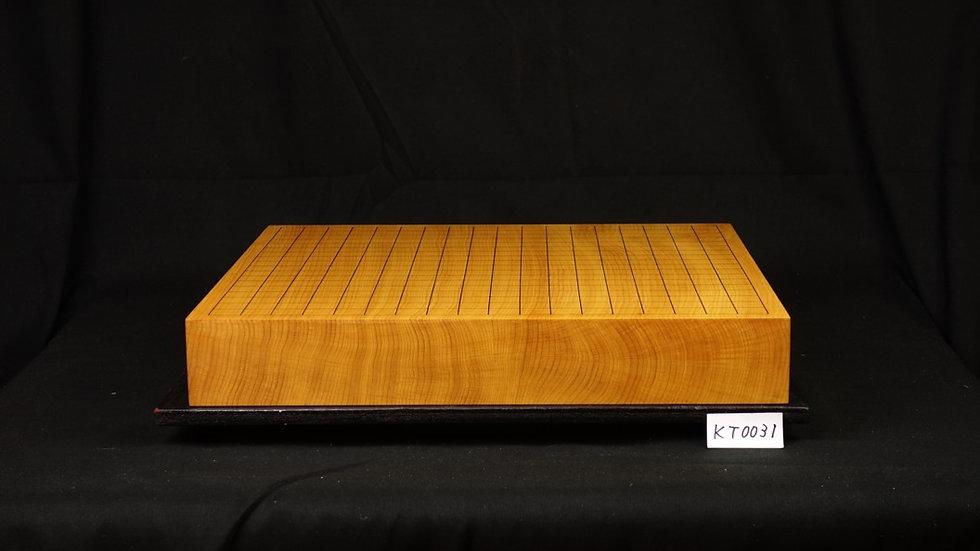 九州産本榧 柾目  一枚盤 卓上碁盤