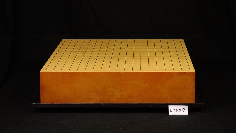 【CT007】日本産本榧 板目(木裏)  一枚盤 卓上碁盤