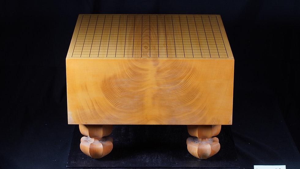 【KA0033】綾営林署産本榧 板目(木裏)  脚付碁盤