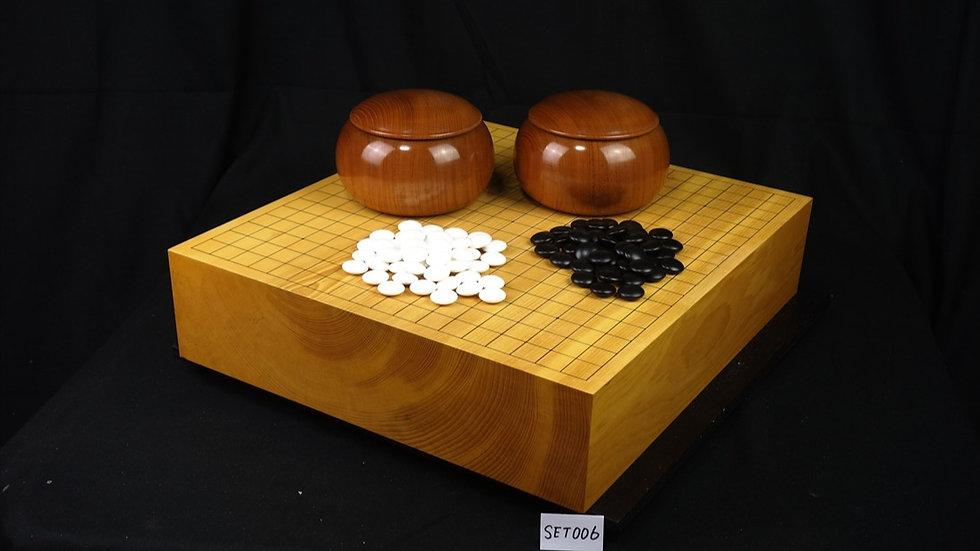 【SET006】日向産本榧卓上碁盤 セット