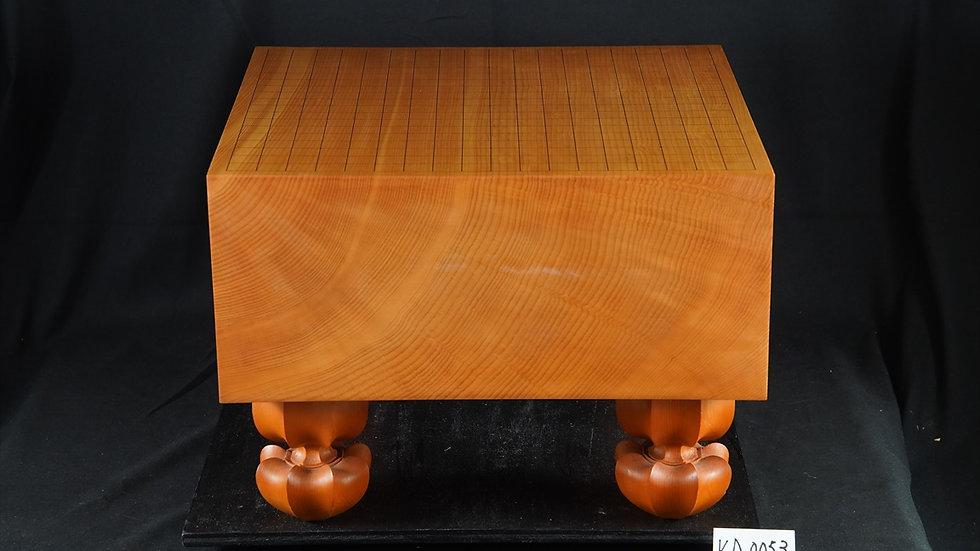 【KA0053】綾営林署産本榧 柾目 脚付碁盤