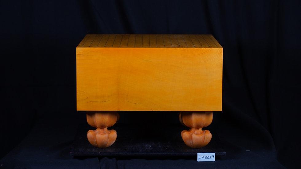 【KA0029】九州産本榧 板目(木表)   脚付碁盤