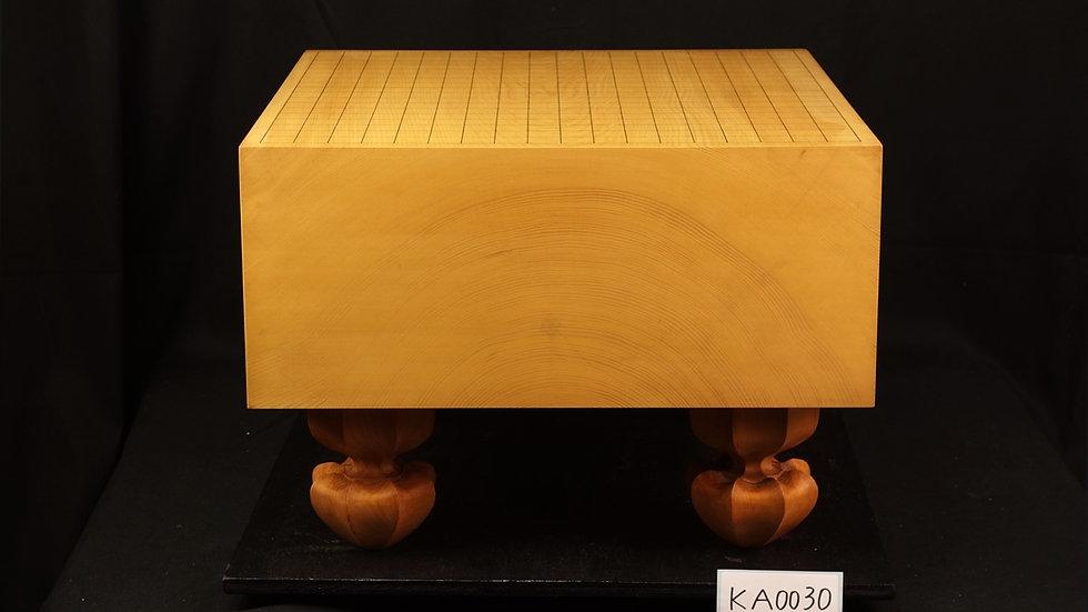 【KA0030】九州山地本榧 板目(木表) 脚付碁盤