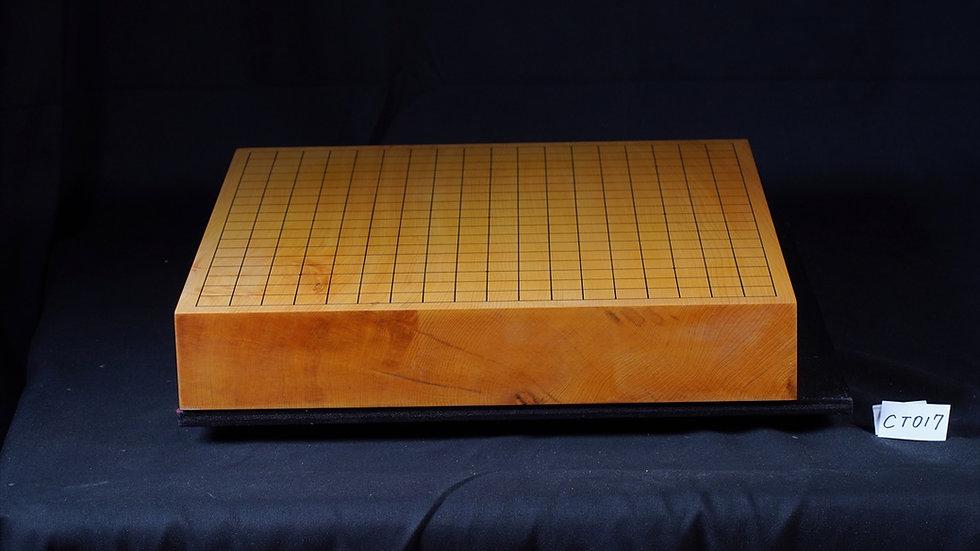 【CT017】日本産本榧 天地柾 一枚盤 卓上碁盤