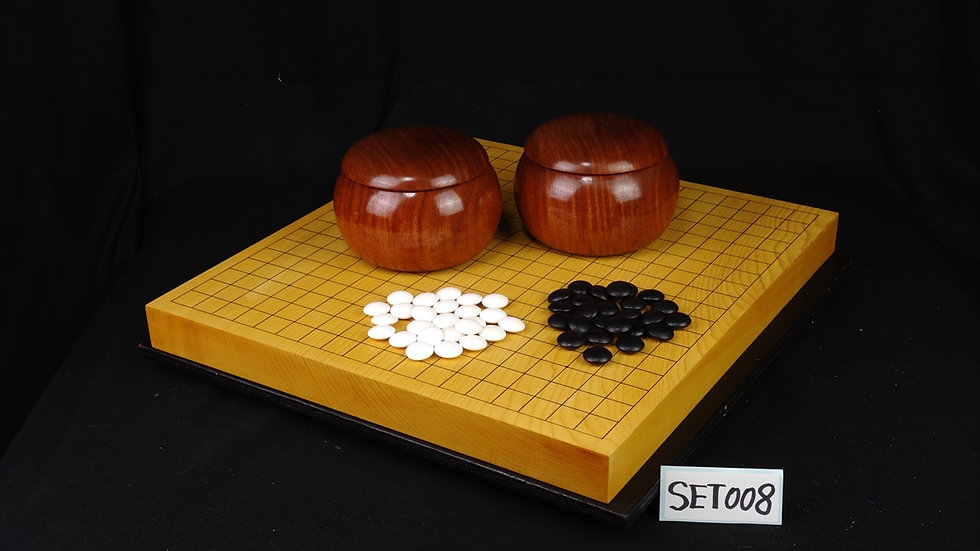 【SET008】九州産本榧卓上碁盤 セット