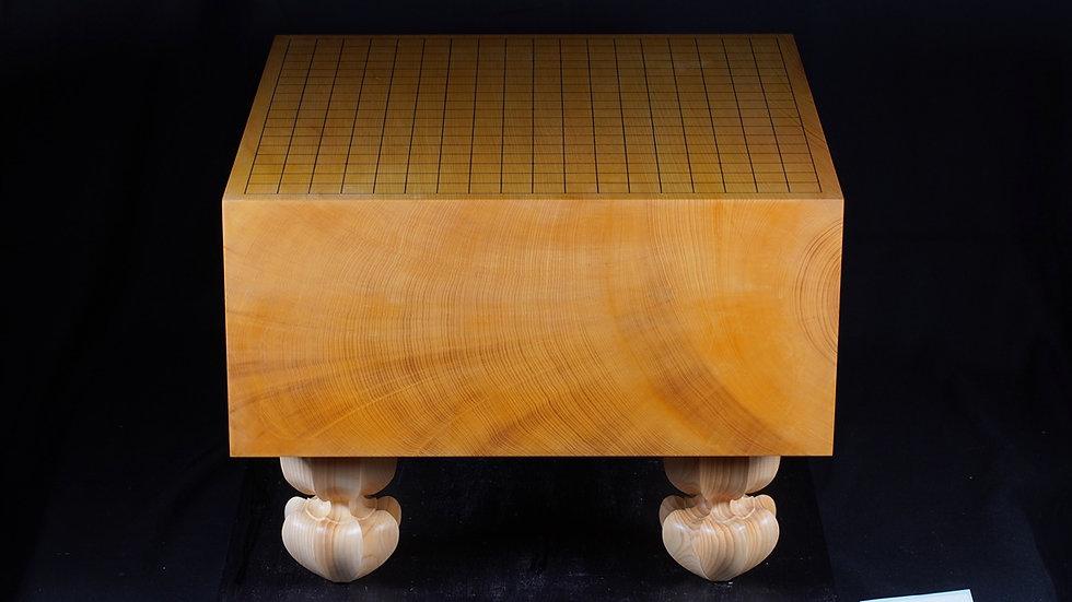 【KA0035】日本産本榧 柾目 脚付碁盤