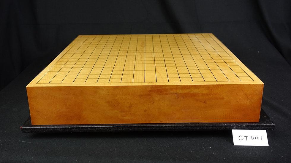 【CT001】日本産本榧 板目(木裏) 卓上碁盤