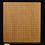 Thumbnail: 【SET037】日本産本榧 天地柾  卓上碁盤(低い脚付)セット(雪印32号、黒檀 特大)