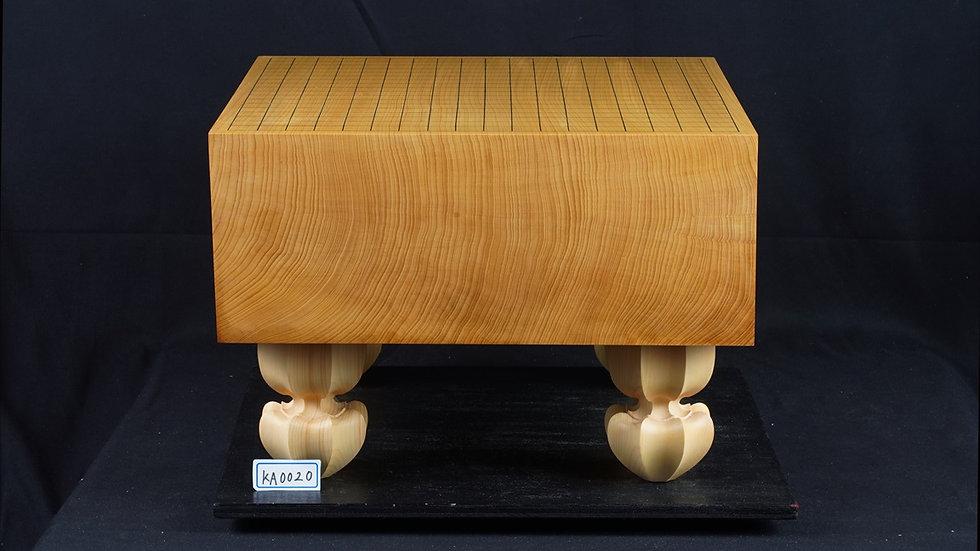 日本産本榧 天地柾 脚付碁盤