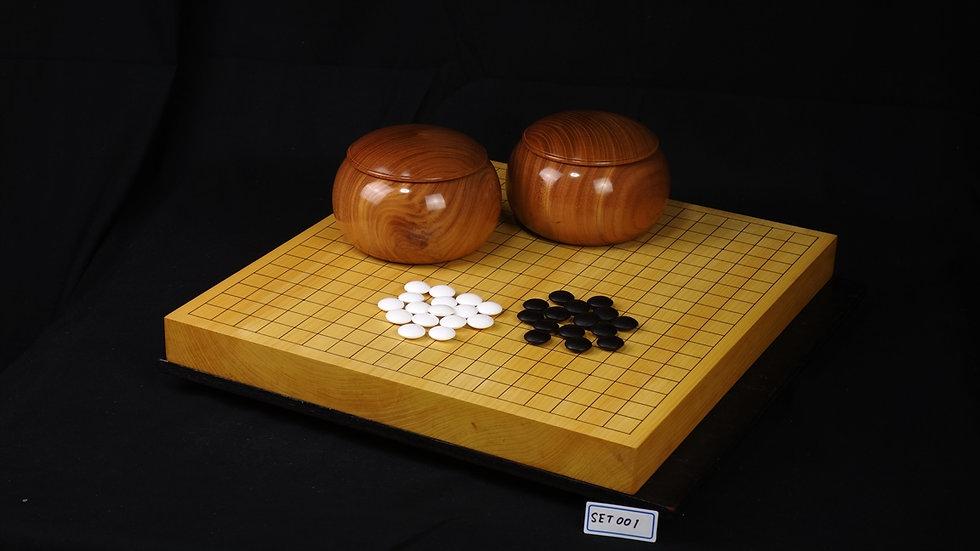 【SET001】本榧卓上碁盤セット