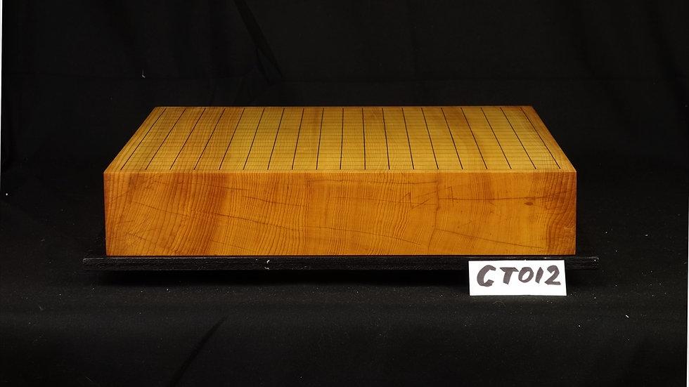 【CT012】日本産本榧 天地柾 一枚盤 卓上碁盤