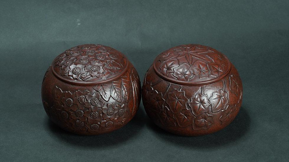 鎌倉彫 碁笥
