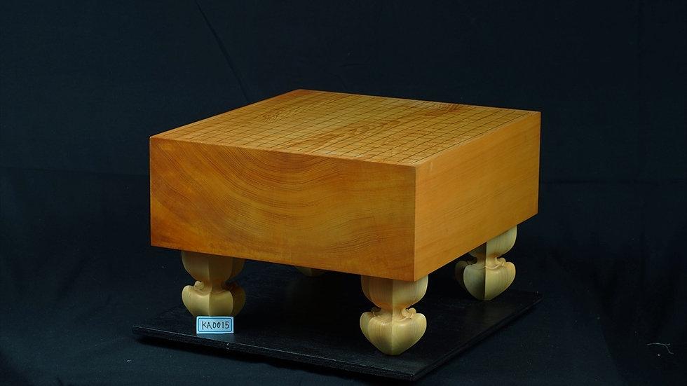 【KA0015】日向産本榧 板目(木裏)脚付碁盤