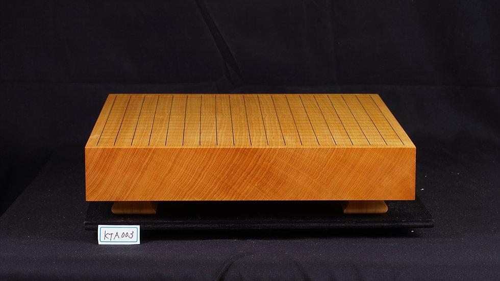 日本産本榧 天地柾  卓上碁盤(低い脚付)