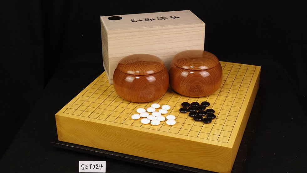 【SET024】九州山地本榧(木裏) 卓上碁盤セット