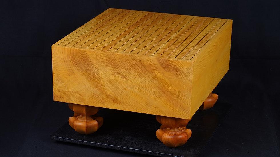 日本産本榧 柾目 脚付碁盤