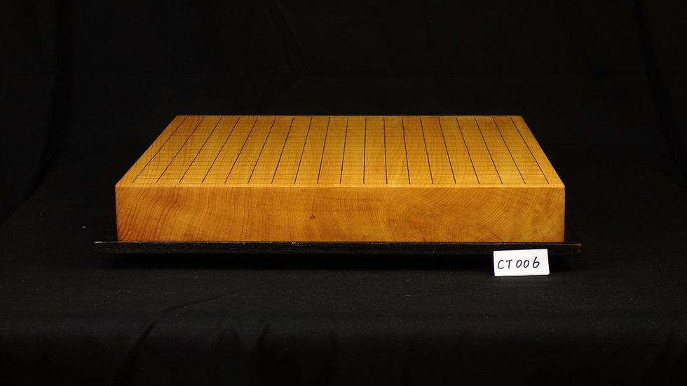 九州産 本榧 柾目  一枚盤 卓上碁盤