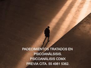 Padecimientos tratados en Psicoanálisis.