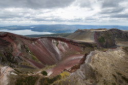 Mount Tarawera crater from the air
