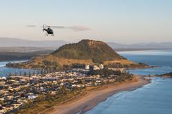 Aerius Helicopters flying along the Tauranga coast