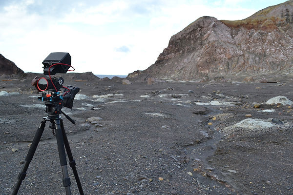 Camera gear setup for filming in a remote location