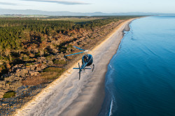Flying along the Bay of Plenty coast