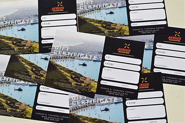 Aerius Helicopters gift vouchers