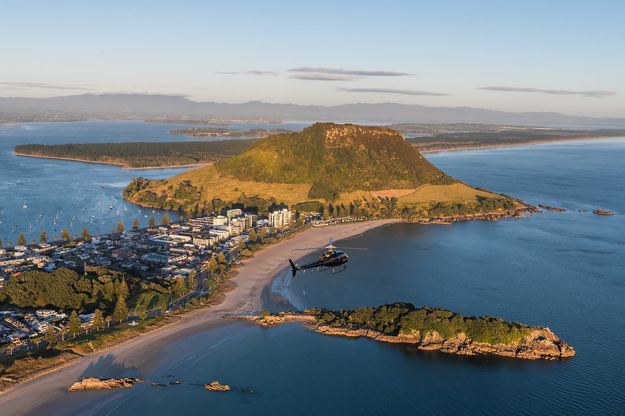 Scenic helicopter flight around Mount Maunganui