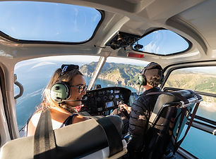 Helicopter flight along the Coromandel Coast