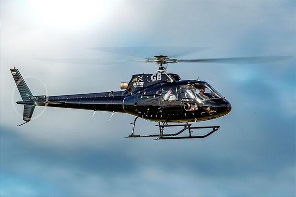 Sleek Black helicopter