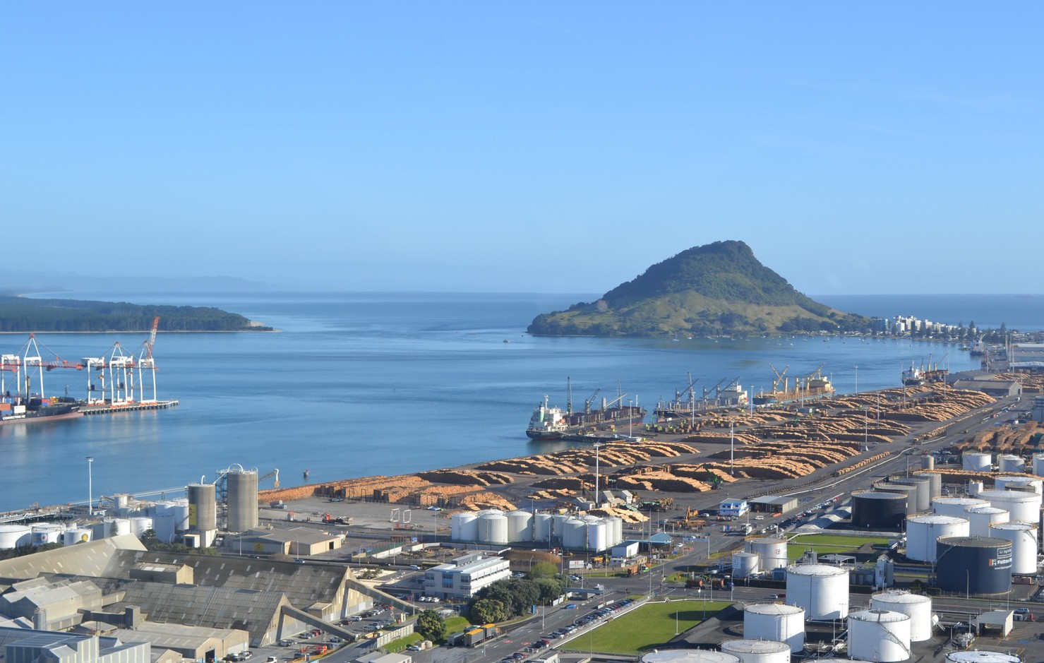 Port of Tauranga and the Tauranga harbour