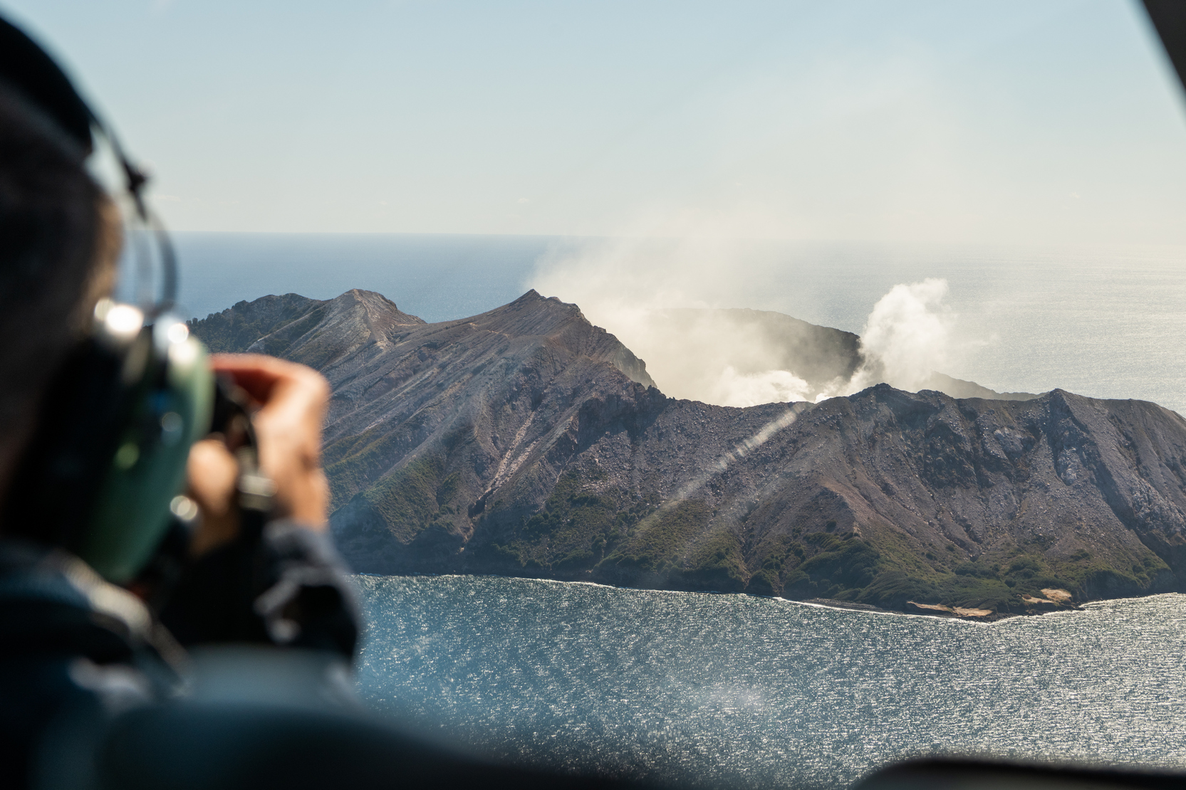 Taking Photos of White Island Volcano
