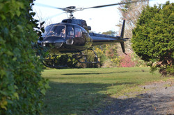 Helicopter landing for a private picnic