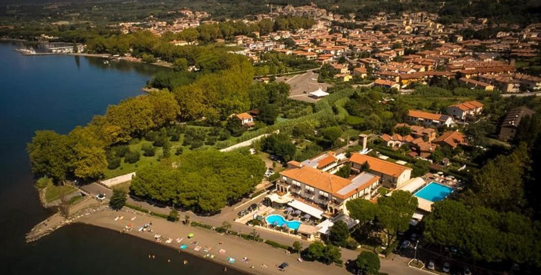 Lake Bolsena, our hotel