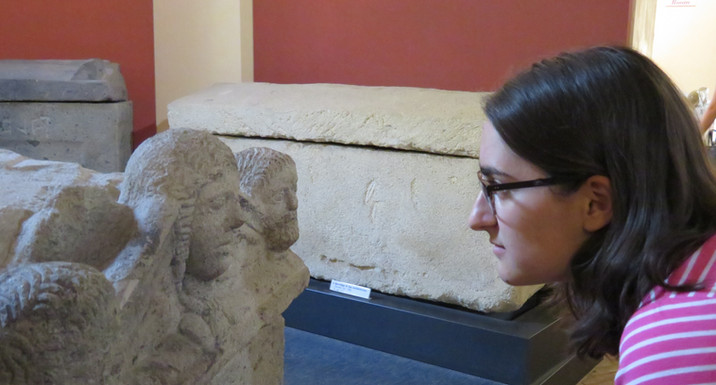encounter with Etruscan sarcophagus