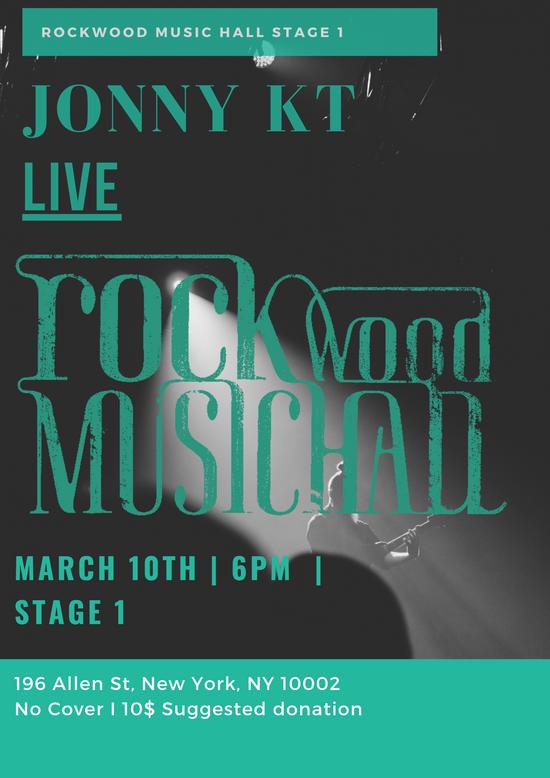 Jonny KT Live at Rockwood Music Hall