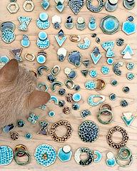 #沖縄 #陶器アクセサリー #陶器ピアス #陶器ヘアゴム #ハンドメイド #ha