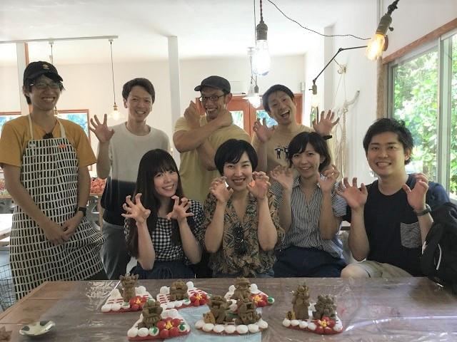 8匹の陶器シーサー作り,20180714,