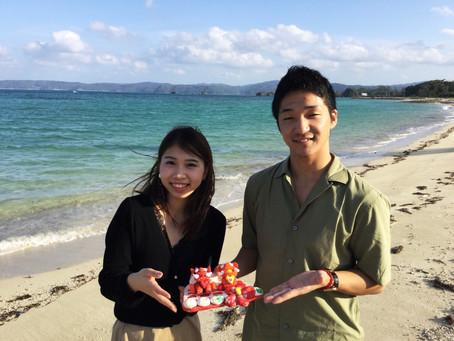 砂浜に♡シーサー♡