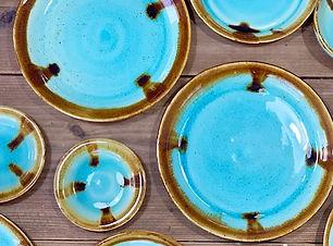 #器好き #pottery #プレート皿 #ブルーの器 #okinawa #カフ