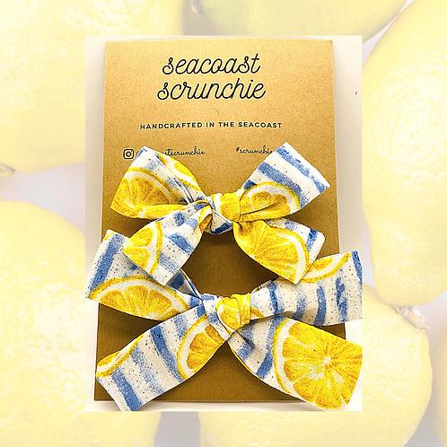 Lemon Clip & Headband Combo