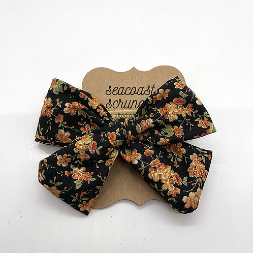 Fall Floral Large Bow
