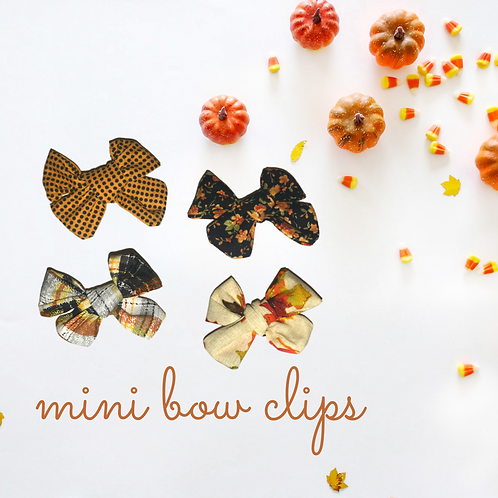 Fall In New England Mini Bows