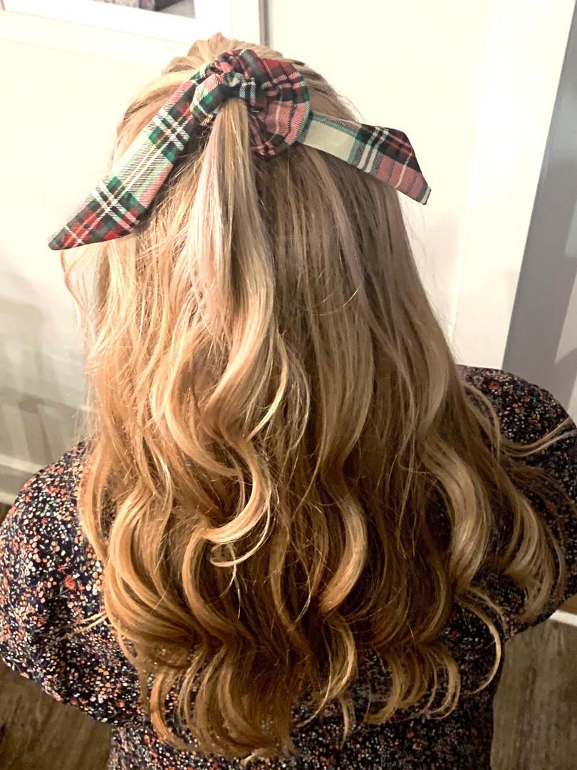Long Hair Scrunchie Tail Christmas